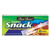 Best Choice Reclosable Snack Bags With Fresh-Lock Zipper