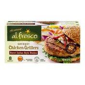 Alfresco Gourmet Chicken Grillers Patties Sweet Italian Style - 8 CT