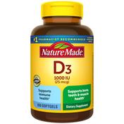 Nature Made Vitamin D3 1000 IU (25mcg) Softgels