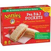 Annie's Pea B & J Pockets Strawberry Soft Crustless Sandwiches