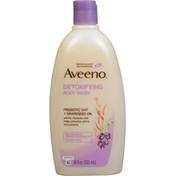 Aveeno® Body Wash, Detoxifying, Prebiotic Oat + Grapeseed Oil