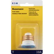 Bussmann Fuses, Plug, T, 10A
