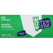OfficeWorks Security Envelopes, Strip and Seal