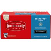 Community Coffee Breakfast Blend Coffee Pods for Keurig K-cups