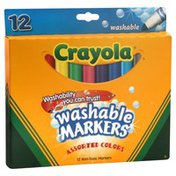 Crayola Washable Markers, Assorted Colors