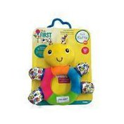 The First Years My First Rattle Baby Learning Toy With Soft Teething Surfaces & High Contrast Patterns