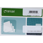 Top Flight Index Card, Unruled, 4 Inch x 6 Inch