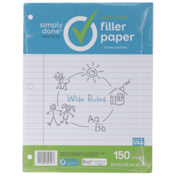 Simply Done Wide Ruled Filler Paper