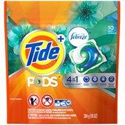 Tide PODS Plus Febreze, Botanical Rain, HE Turbo Laundry Detergent Pacs 10-load Bag Laundry