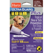 Hartz Flea & Tick Prevention, Topical, for Dogs & Puppies 61 to 150 Pounds