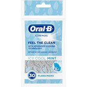 Oral-B Manual Complete Dental Floss Picks, Icy Cool Mint