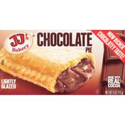 JJ's Bakery Pie, Chocolate, Lightly Glazed
