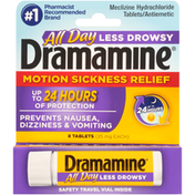 Dramamine Motion Sickness Relief, Less Drowsy Formula, 25 mg