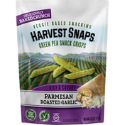 Harvest Snaps Green Pea Snack Crisps, Parmesan Roasted Garlic, Rich & Savory