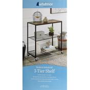 Whitmor Shelf, Modern Industrial, 3-Tier