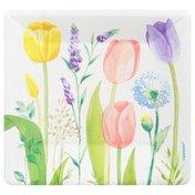 Amscan Plates, Tulip Garden, 7 Inch