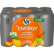 V8® +Energy® Healthy Energy Drink, Natural Energy from Tea, Orange Pineapple