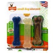 Nylabone Small Dog Value Pack, Petite Size