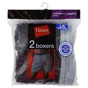 Hanes Boxers, Men's L, Contemporary Prints