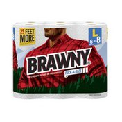 Brawny Towels 6 Large 94CT Pick-A-Size White