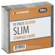 Xtreme Storage Cases, Jewel Case, Slim, 10 Pack