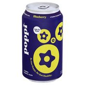Poppi Prebiotic Soda, Blueberry