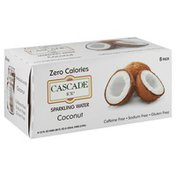 Cascade Ice Sparkling Water, Coconut, 8 Pack