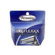 Personna Tri-Flexxx Triple Blade Cartridges For Men