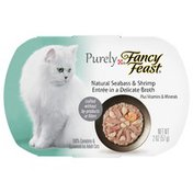 Fancy Feast Natural Seabass & Shrimp Entree In A Delicate Broth 100% Complete & Balanced Food For Adult Cats
