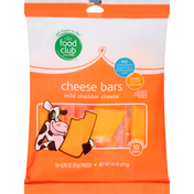 Food Club Cheese Bars, Mild Cheddar
