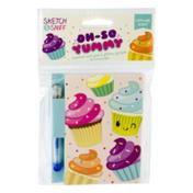 Scento Inc. Scented Note Pad & Glitter Gel Pen Cupcake Scent