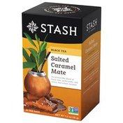 Stash Tea Tea, Herbal & Black, Salted Caramel Mate, 18 Bags, Box