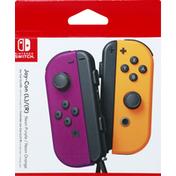 Nintendo Switch Joy-Con (L)/(R), Neon Purple/Neon Orange