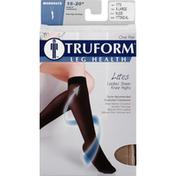 Truform Knee Highs, Leg Health, Lites, Ladies' Sheer, Moderate, Nude, X-Large
