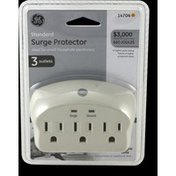 GE Surge Protector, Grounding Outlets, Grey