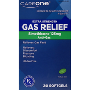 CareOne Gas Relief Extra Strength Simethicone 125mg Anti-Gas Softgels