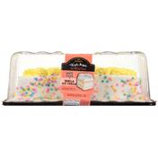 Jon Donaire Triple Layer White Cake + Vanilla Ice Cream Premium Ice Cream Cake