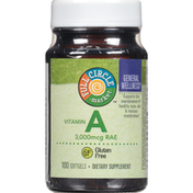Full Circle Vitamin A 3,000 Mcg Rae Supports The Maintenance Of Healthy Eyes, Skin & Mucous Membranes Dietary Supplement Softgels