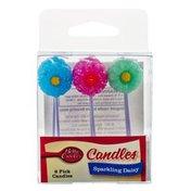Betty Crocker Sparkling Daisy Candles - 6 CT