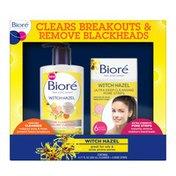 Bioré Witch Hazel Witch Hazel Acne Face Wash + Blackhead Removing Pore Strips (Combo Pack)