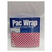12 X12 Red Check Grease Resistant Sheet