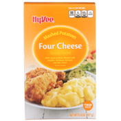 Hy-Vee Four Cheese 100% Russet Mashed Potatoes Blended With Cheddar, Parmesan, Romano And Blue Cheese