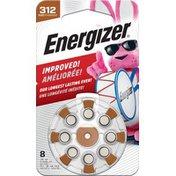 Energizer EZ Turn and Lock Hearing Aid Size 312 Batteries, (AZ312DP)