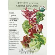 Botanical Interests Seeds, Lettuce, Mesclun, Gourmet Baby Greens