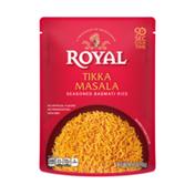 Royal Ready to Heat Microwave Tikka Masala, Seasoned Basmati Rice