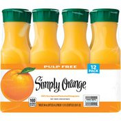 Simply Beverages 100% Pure Squeezed Pasteurized Simply Orange Pulp Free Orange Juice