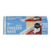 Southeastern Grocers Resealable Freezer Bags Quart - 20 CT