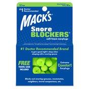Mack's Snore Blockers Soft Foam Ear Plugs
