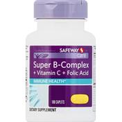 Safeway Care Super B-Complex, + Vitamin C + Folic Acid, Caplets
