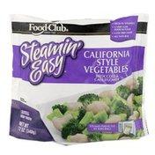 Food Club Steamin' Easy, California Style Vegetables Broccoli & Cauliflower